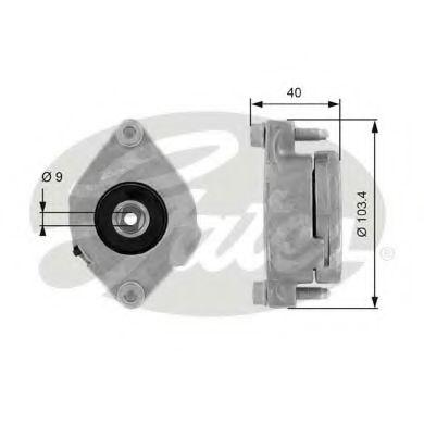 Натяжной ролик, поликлиновой  ремень GATES арт. T38147
