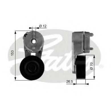 Натяжной ролик, поликлиновой  ремень GATES арт. T38163