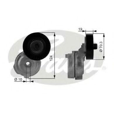 Натяжной ролик, поликлиновой  ремень GATES арт. T38176