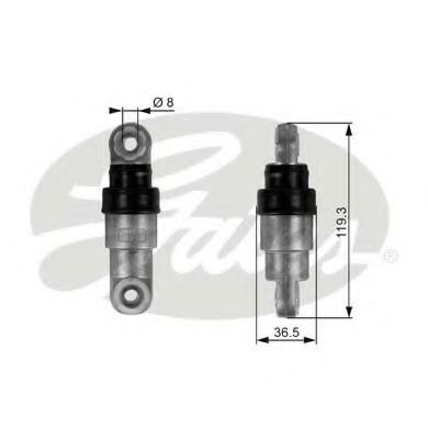Амортизатор, поликлиновой ремень GATES арт. T38218