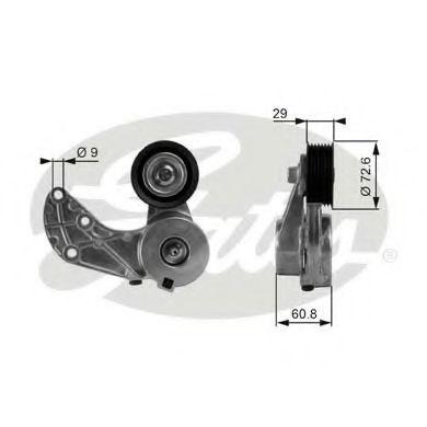 Натяжной ролик, поликлиновой  ремень GATES арт. T38317