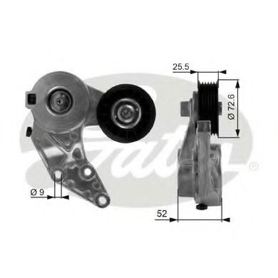 Натяжной ролик, поликлиновой  ремень GATES арт. T38377