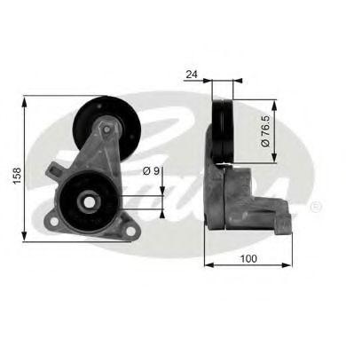 Натяжной ролик, поликлиновой  ремень GATES арт. T38437