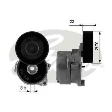 Натяжной ролик, поликлиновой  ремень GATES арт. T38442