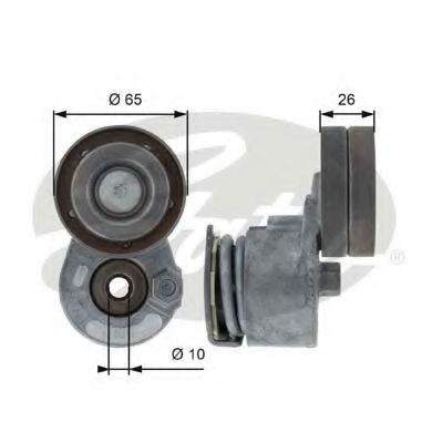 Натяжной ролик, поликлиновой  ремень GATES арт. T38468