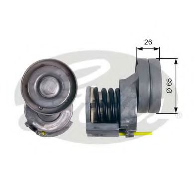 Натяжной ролик, поликлиновой  ремень GATES арт. T39023