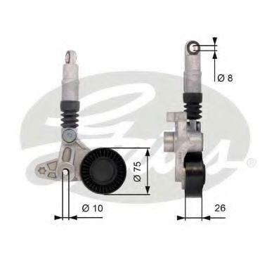 Натяжной ролик, поликлиновой  ремень GATES арт. T39099