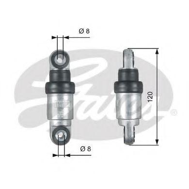 Амортизатор, поликлиновой ремень GATES арт. T39215