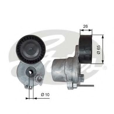 Натяжной ролик, поликлиновой  ремень GATES арт. T39338