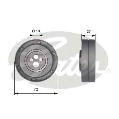 Натяжной ролик, ремень ГРМ GATES арт. T41216