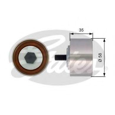 Паразитный / Ведущий ролик, зубчатый ремень GATES арт. T42121