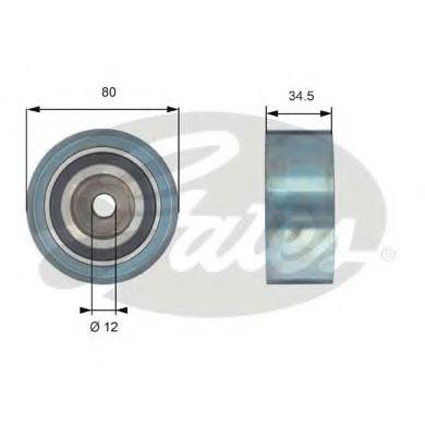 Паразитный / Ведущий ролик, зубчатый ремень GATES арт. T42193