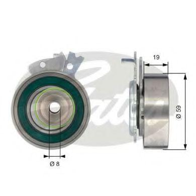Натяжной ролик, ремень ГРМ Gates - T43038