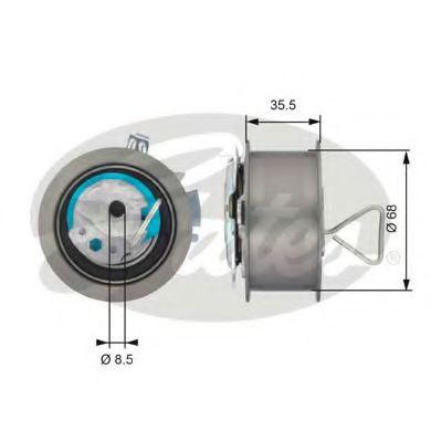 Натяжной ролик, ремень ГРМ Gates - T43091