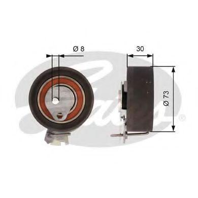 Натяжной ролик, ремень ГРМ GATES арт. T43157