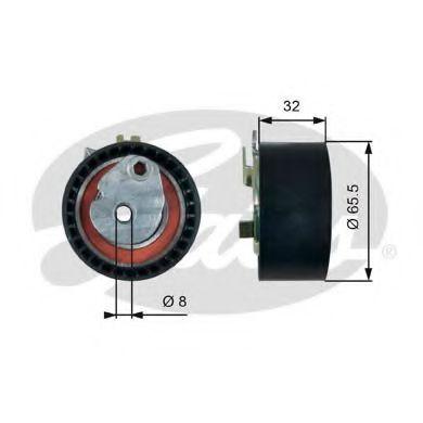 Натяжной ролик, ремень ГРМ GATES арт. T43238