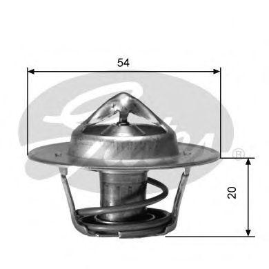 Термостат, охлаждающая жидкость GATES арт. TH00182G2