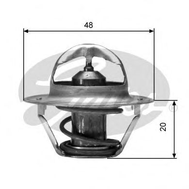 Термостат, охлаждающая жидкость GATES арт. TH00388G1