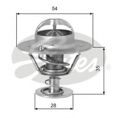 Термостат, охлаждающая жидкость GATES арт. TH00782G1