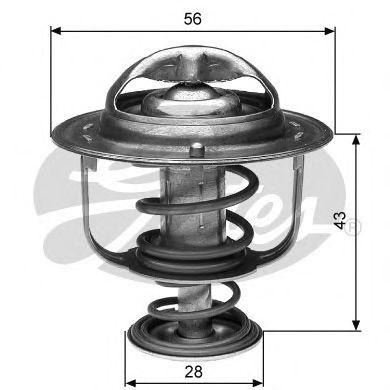 Термостат, охлаждающая жидкость GATES арт. TH31282G1