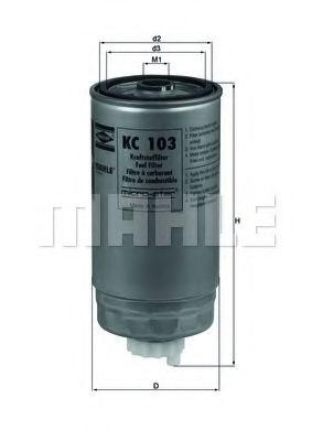 Фильтры топливные Топливный фильтр KNECHT арт. KC103