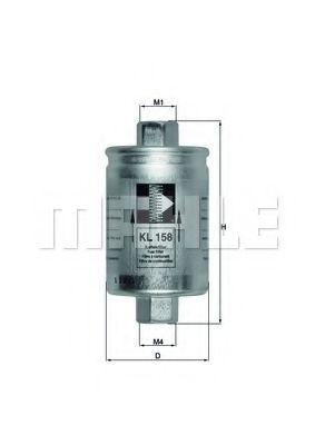 Фильтры топливные Топливный фильтр KNECHT арт. KL158
