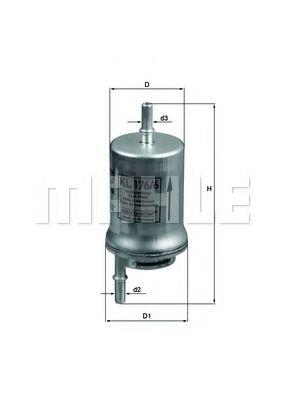 Фильтры топливные Топливный фильтр KNECHT арт. KL1766D