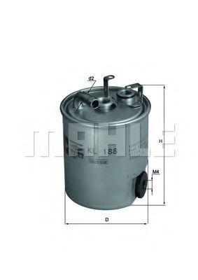 Фильтры топливные Топливный фильтр KNECHT арт. KL188