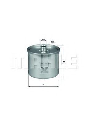 Фильтры топливные Топливный фильтр KNECHT арт. KL468