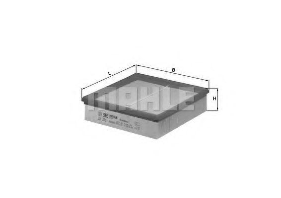 Фильтры воздуха салона автомобиля Воздушный фильтр KNECHT арт. LX220