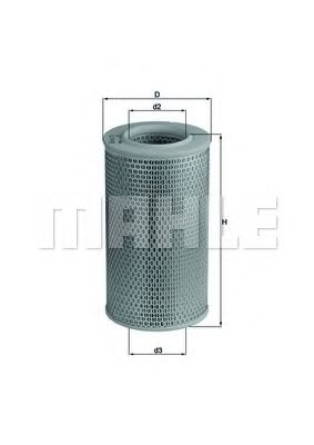 Фильтры воздуха салона автомобиля Воздушный фильтр KNECHT арт. LX611