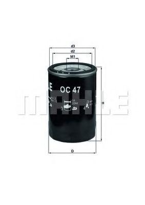 Фильтры масляные Масляный фильтр KNECHT арт. OC47OF
