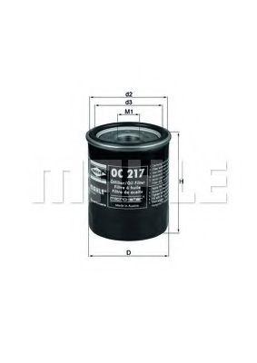 Фильтры масляные Масляный фильтр KNECHT арт. OC217