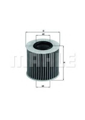 Фильтры масляные Масляный фильтр KNECHT арт. OX414D1