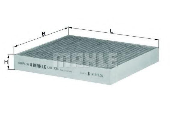 Фильтры прочие Фильтр, воздух во внутренном пространстве KNECHT арт. LAK436