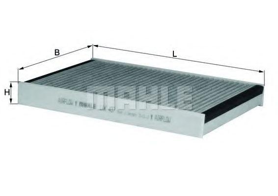 Фильтры прочие Фильтр, воздух во внутренном пространстве KNECHT арт. LAK437