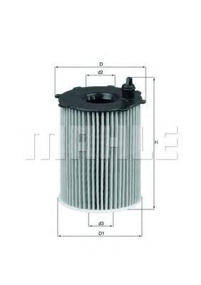 Фильтры масляные Масляный фильтр KNECHT арт. OX17116D