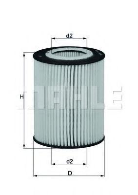Фильтры масляные Масляный фильтр KNECHT арт. OX433D