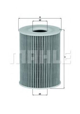 Фильтры масляные Масляный фильтр KNECHT арт. OX254D2