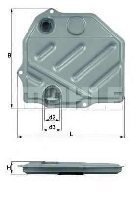 Фильтры масляные Гидрофильтр, автоматическая коробка передач KNECHT арт.