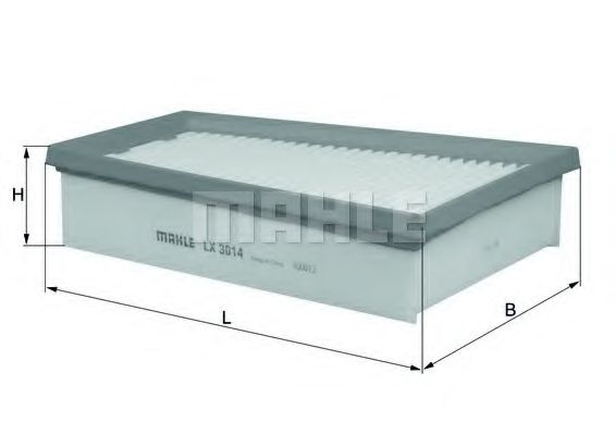 Фильтры воздуха салона автомобиля Воздушный фильтр KNECHT арт. LX3014