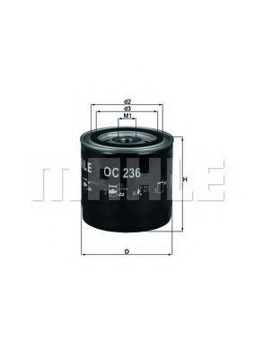 Фильтры масляные Масляный фильтр KNECHT арт. OC236