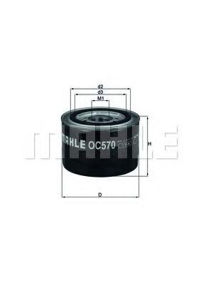 Фильтры масляные Масляный фильтр KNECHT арт. OC570
