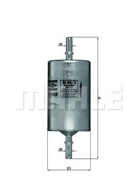 Фильтры топливные Топливный фильтр KNECHT арт. KL842