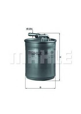 Фильтры топливные Топливный фильтр KNECHT арт. KL494