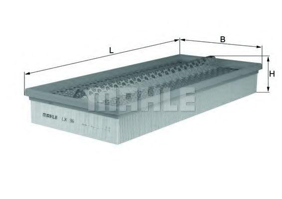Фильтры воздуха салона автомобиля Воздушный фильтр KNECHT арт. LX96
