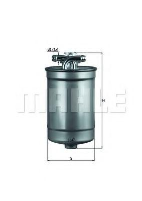 Фильтры топливные Топливный фильтр KNECHT арт. KL554D