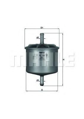 Фильтры топливные Топливный фильтр KNECHT арт. KL186