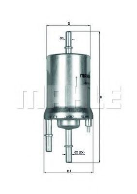 Фильтры топливные Топливный фильтр KNECHT арт. KL1561