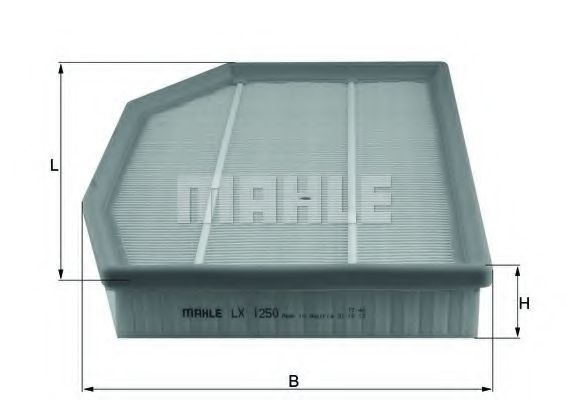 Фильтры воздуха салона автомобиля Воздушный фильтр KNECHT арт. LX1250